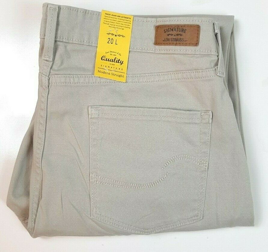 NWT Women's Levi's Signature Modern Straight Jeans Tan Size