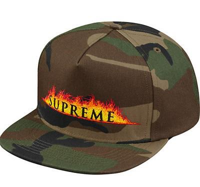 Supreme Annihilation 5-Panel Woodland Camo Cap 17 SS Box Logo