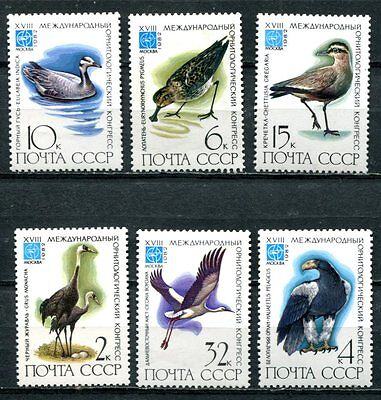 RUSSIA 1982 RARE BIRD STAMPS - MINT COMPLETE SET OF 6!