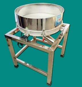 110V Stainless Steel Electric Powder Shaker Food Vibration Sieve Machine 230308