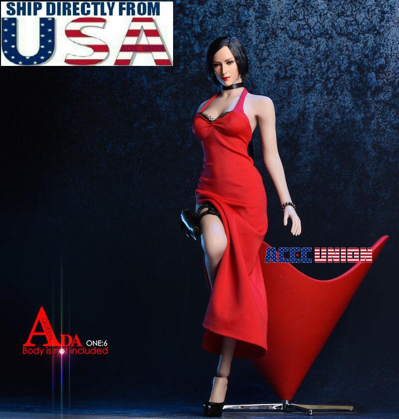 "1//6 Carla Radames Ada Wong Resident Evil 6 Dress Set For 12/"" Phicen Hot Toys"