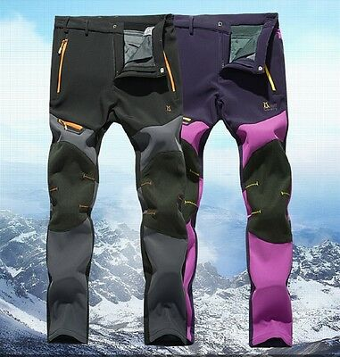 Womens Sportswear Warm Winter Fleece Lined Ski Pants Softshell Snow (Line Ski Clothing)