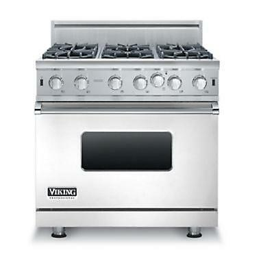 Viking Vgic53616bss 36  Pro Style Gas Range 6 Burners W Free Dishwasher Micro