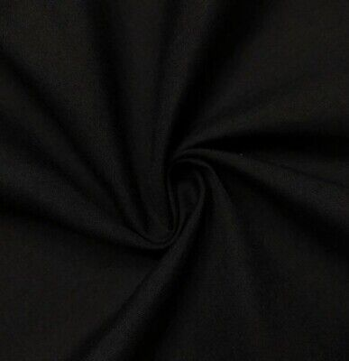 """Black  Cotton Fabric 45"""" Width Sold By The Yard"""