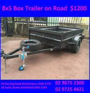 BOX Trailer 8x5 Heavy Duty very Cheap 1 yr REGO on Road $1200 Minchinbury Blacktown Area Preview