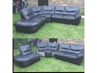 Lovely Brown 3 piece curved corner sofa can be delivered