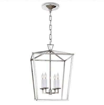 Authentic Visual Comfort Darlana Lantern Pendant Polished Nickel Small
