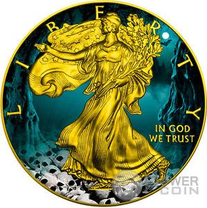 HALLOWEEN Walking Liberty 1 Oz Silver Coin 1$ US Mint 2016 - Italia - HALLOWEEN Walking Liberty 1 Oz Silver Coin 1$ US Mint 2016 - Italia