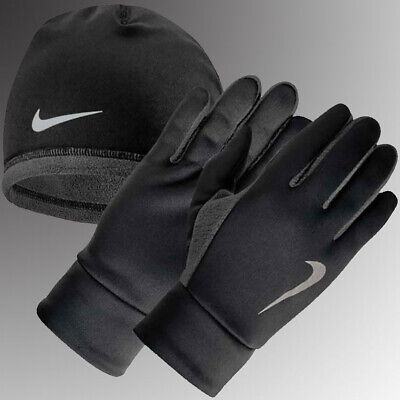 Nike Dri-Fit Thermal Running Hat and Glove Set Black/Anthracite Sz. S/M and -