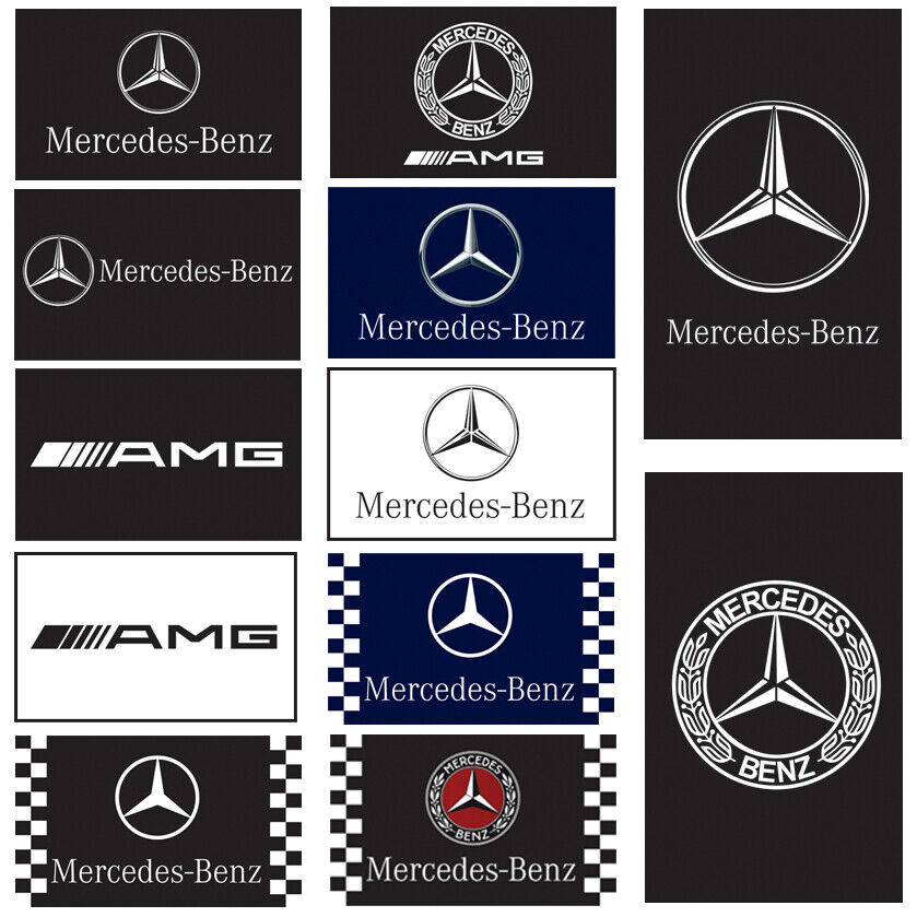 Mercedes Benz Flag Banner 3x5ft Car Racing Service Garage SL-CLass E-Class AMG