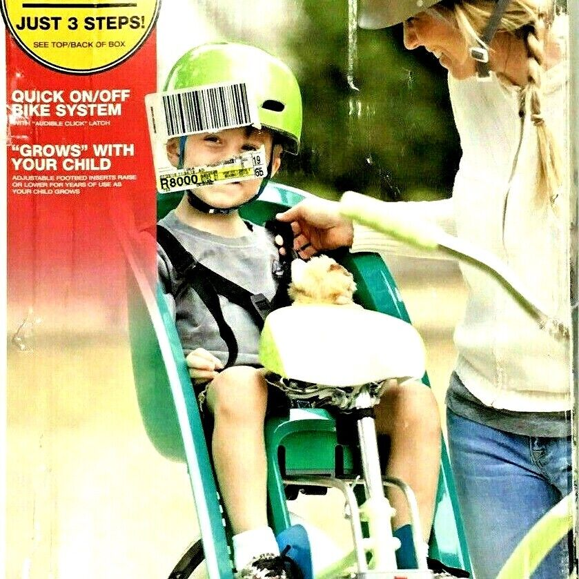 Bell Shell Child Rear Mount Bicycle Carrier Fast Easy Quick
