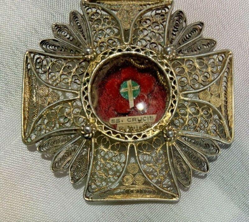 Antique Relic of the Holy True Cross Pendant, Crucis DNIC