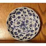 ANTIQUE CHINESE PORCELAIN BLUE AND WHITE PLATE KANGXI PERIOD
