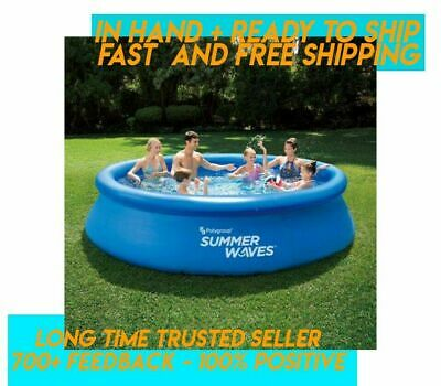 "Summer Waves 12' x 30"" Quick Set Above Ground Inflatable Swimming Pool *IN HAND"