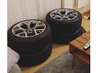 """4x 19"""" astra vxr replica alloys (tyres included)"""