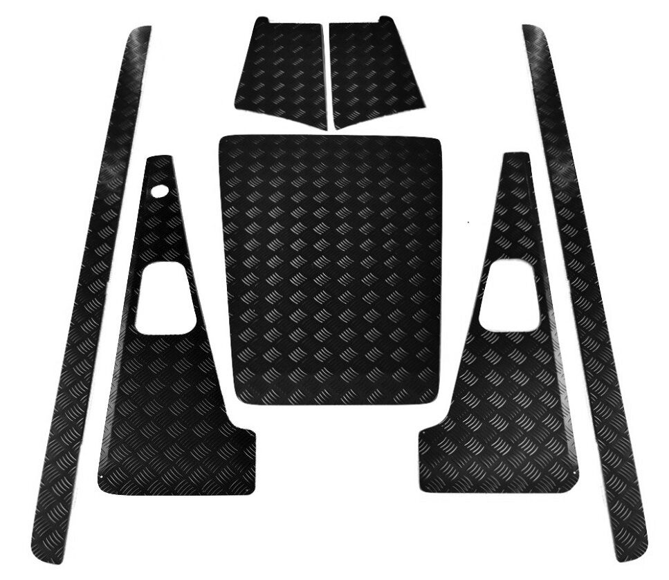 2mm Chequer Plate Fits 2007 Onwards Natural - Defender Puma 90 Set A