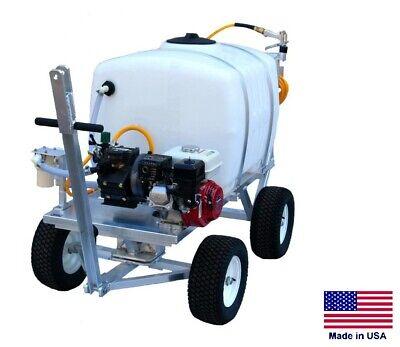 Sprayer Commercial - Trailer Mounted - 100 Gallon Tank - 9.5 Gpm - 5.5 Hp Honda
