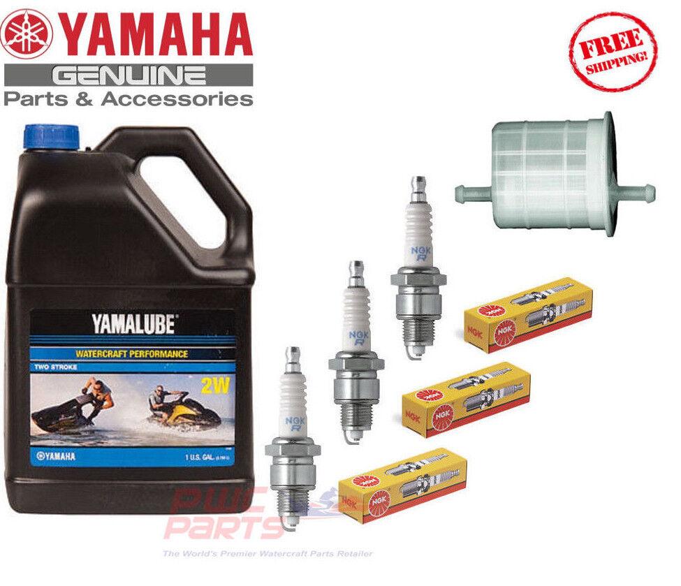 YAMAHA 1996-1997 WaveVenture 1100 2W Oil Fuel Filter NGK BR8HS Maint Tune Up Kit