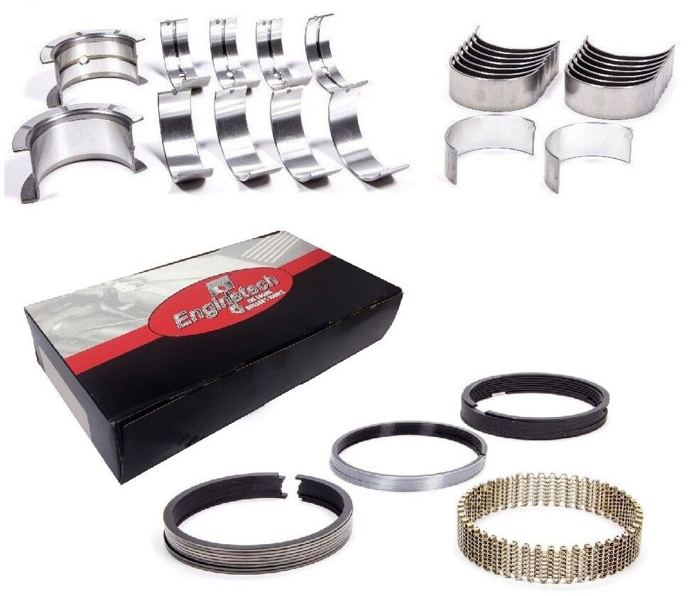 1986-1995 CHEVY SBC 305 5.0 REMAIN RERING BEARINGS PISTON RINGS GASKETS