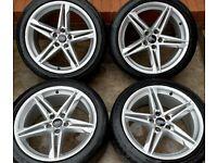 Audi A5 S Line 18 inch Alloy Wheels 5 x 112 | Genuine | F5 A4 B9 | 8.5J ET29 245/40 r18