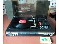 Vintage 1970s Music Centre Fidelity MC3 (Made UK) (record player,cassette,radio) Speakers. All works