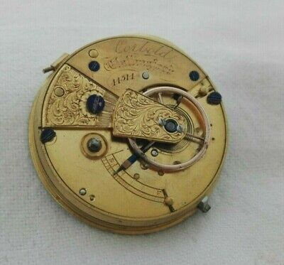 Antique CORBOLD, Callinford Pocket Watch - Key wound - Parts Only