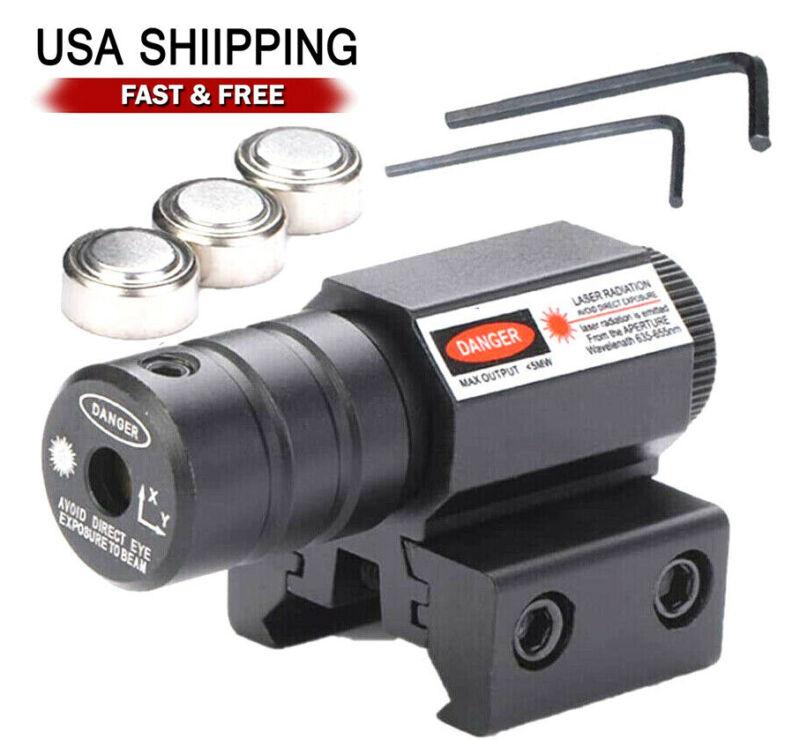 Tactical Red Laser Beam Dot Sight Scope For Gun Rail Pistol Weaver US