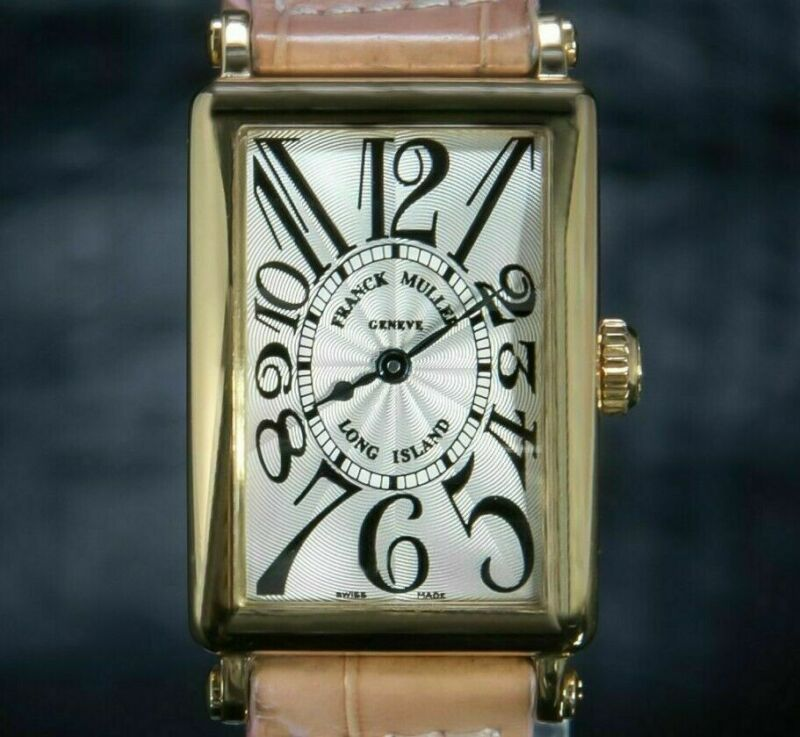 Franck Muller Long Island 18 K Yellow Gold Quartz Lady's Watch Satin Dial 900qz - watch picture 1