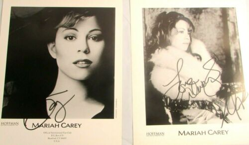 Mariah Carey Official International Fan Club Photo Lot 2 1990s Branford CT USA