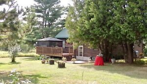 Log Home on 127 acres in Wanup.   $379,000.00