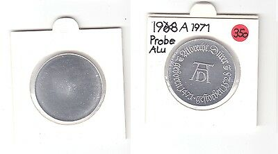DDR Gedenk Münzen 10 Mark einseitige Alu Probe, A. Dürer 1971 (118797)