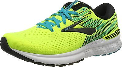 Brooks Mens Adrenaline GTS 19 Yellow Black Running Shoes - D Width (Standard)