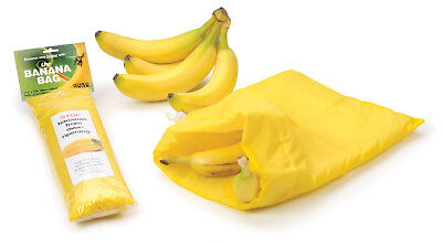 "RSVP Banana Keeper Fresh Fruit Bag 11.5"" X 13.75"" Water Resistant For 8 Bananas"