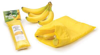 "RSVP Banana Keeper Fresh Fruit Bag 11.5"" X 13.75"" Water Resistant For 8 Bananas"