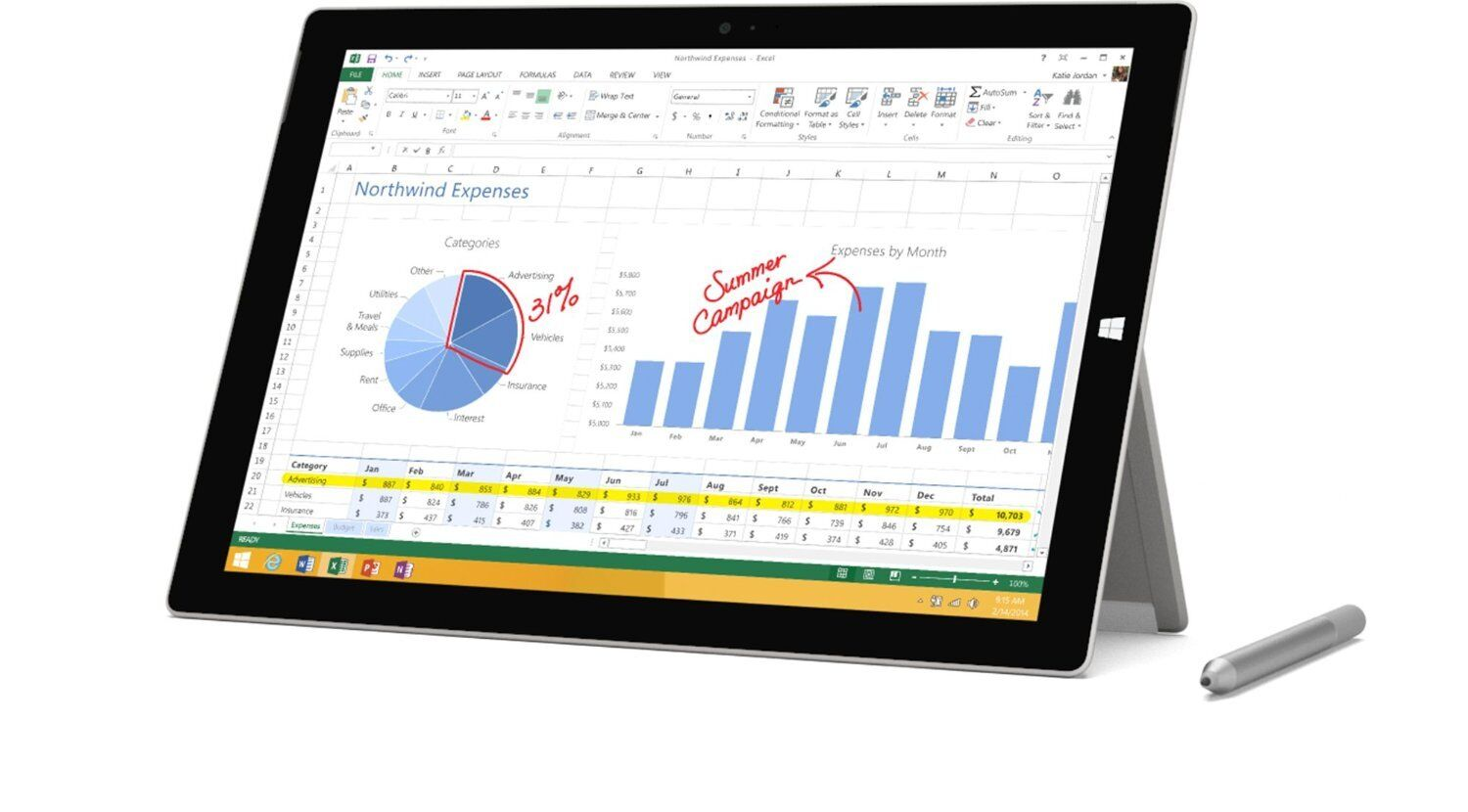 $679.95 - New Microsoft Surface Pro 3 12