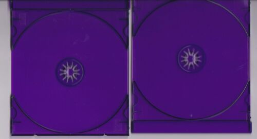 20 HIGH QUALITY PURPLE SINGLE CD TRAYS - PURPLE TRAY