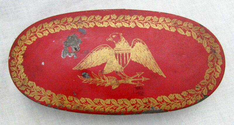 FINE ANTIQUE FEDERAL EAGLE CALIFORNIA GOLD RUSH PERIOD ~ COMPLETE LARGE RED SET