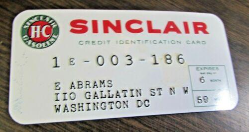 1959 SINCLAIR GASOLINE - CREDIT IDENTIFICATION CARD - ORIGINAL