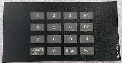Gilbarco Eu03001g005 Encore Crind Keypad Overlay Espaol