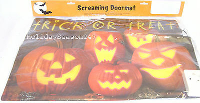 Trick Or Treat Spooky Screaming Doormat Prop Speak Scary Phrases When Stepped On - Screaming Doormat