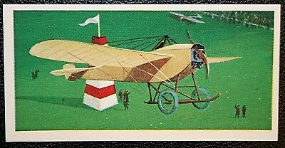 Bleriot 1910 Monoplane     Superb Illustrated Colour Card