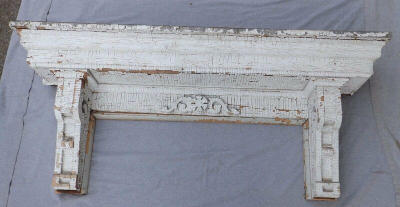 Antique Pediment Header Corbel Mantel Shelf Old Victorian Architecture 4969-15