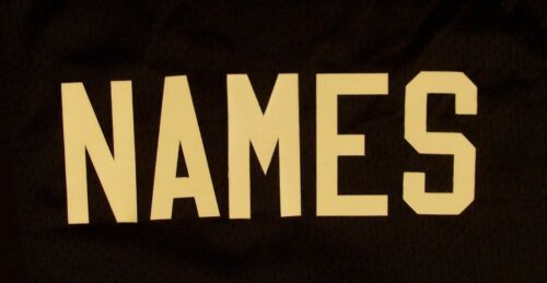 "3"" WHITE Tackle Twill Letters for ANY NAME Nameplate on Football Hockey Jersey"