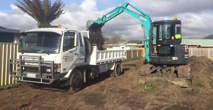 DRY HIRE - 5t Excavator and Tip Truck Devonport Devonport Area Preview
