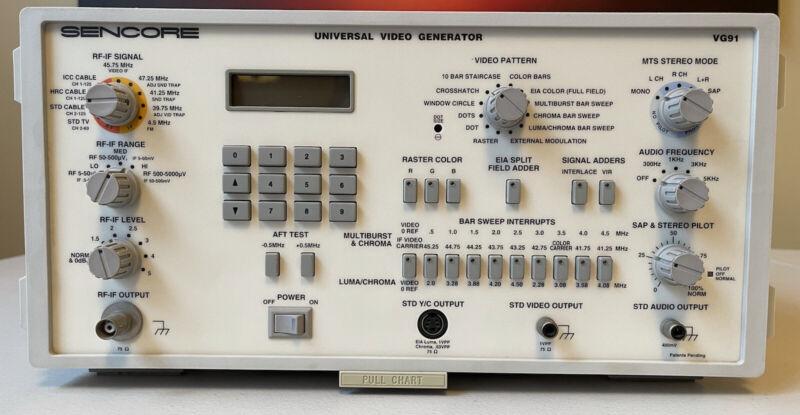 Used Sencore VG91Universal Video Generator & TVA92 TV Video Analyzer BUNDLE