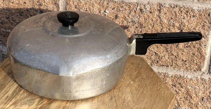 Vintage Wagner Ware Sydney Magnalite Fryer Skillet Pan w/ Lid 4569-P Aluminum
