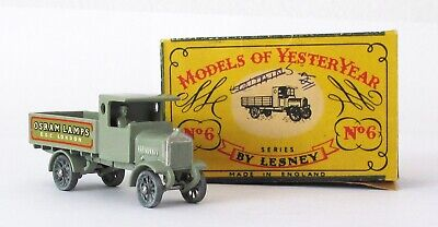 Vintage Lesney Matchbox MOY #Y-6 AEC Lorry Osram Lamps NEAR MINT IN BOX 1958