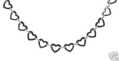 "Steel by Design Heart Shape Link Chain Necklace 20"" Length"