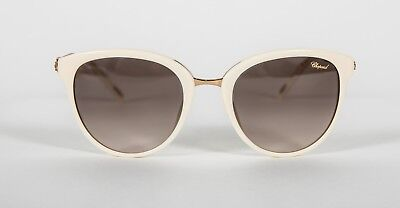 57b3568244c9 Chopard SCH213G SCH 213G 702 Cream w  crystals Gradient Sunglasses 53-21-130