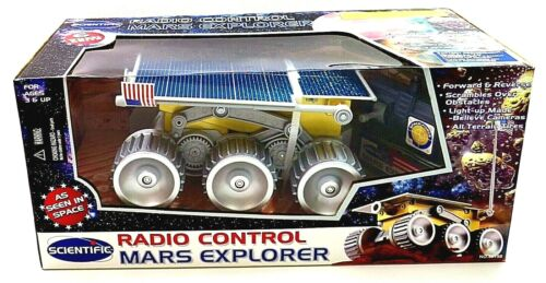Vintage Scientific NOS NRFB Battery Operated Remote Control Mars Rover NEW!